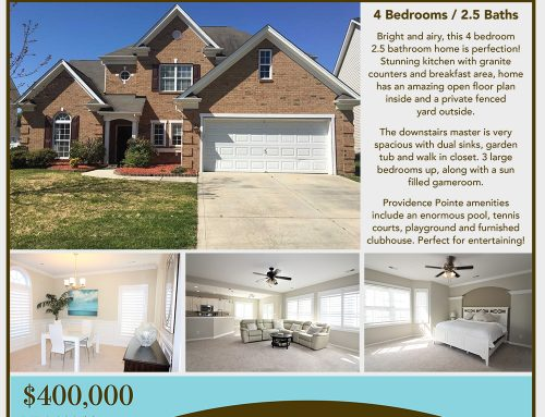 Open House this Weekend! Beautiful Breathtaking Ballantyne Home!