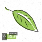 Go Green Concept Poster With Leaf Symbol. Vector